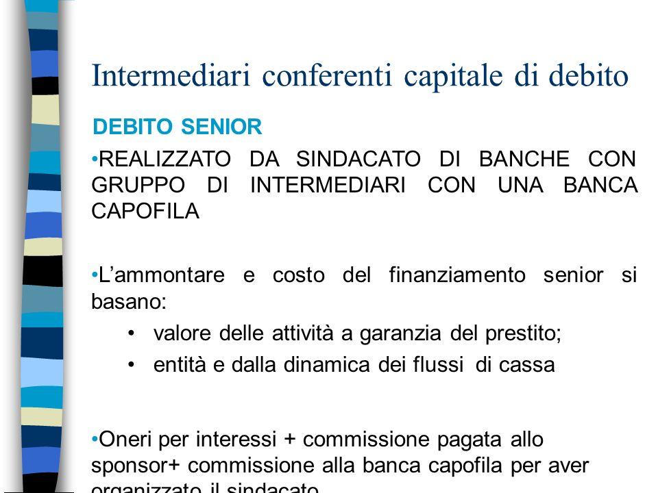 Intermediari conferenti capitale di debito
