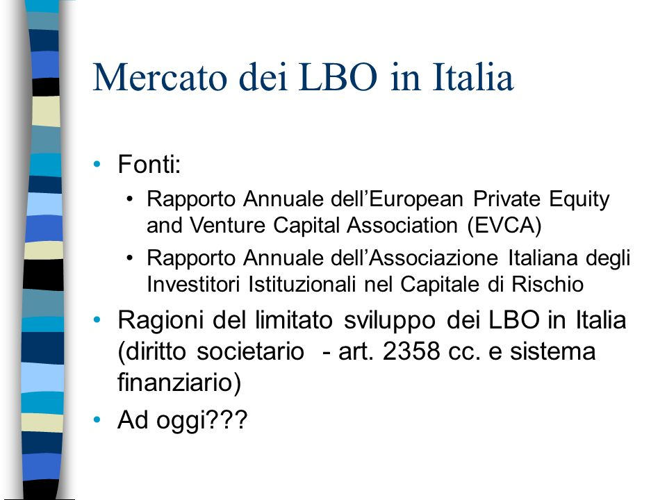 Mercato dei LBO in Italia