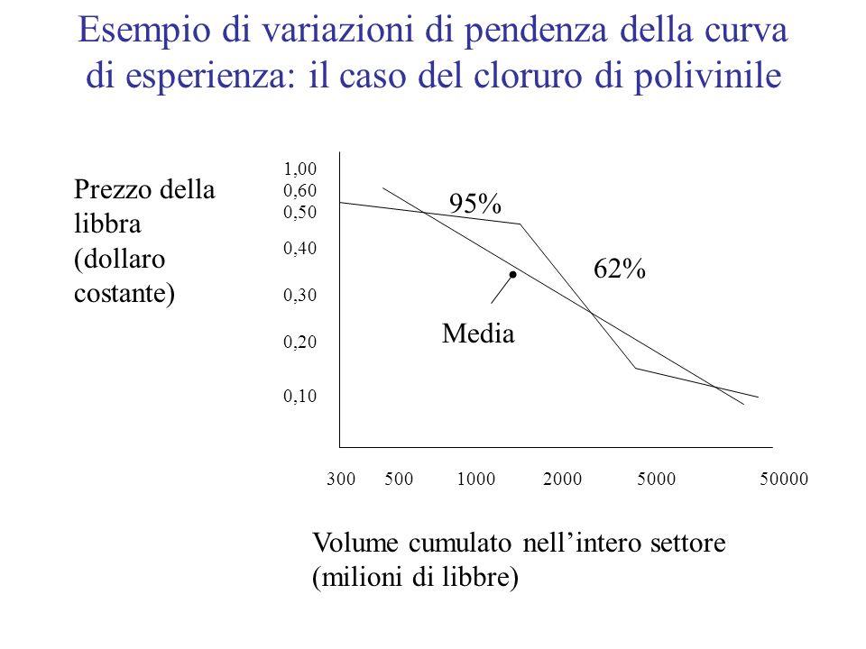 Esempio di variazioni di pendenza della curva di esperienza: il caso del cloruro di polivinile