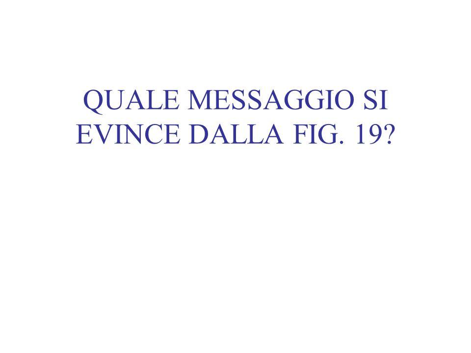 QUALE MESSAGGIO SI EVINCE DALLA FIG. 19