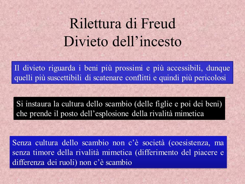 Rilettura di Freud Divieto dell'incesto