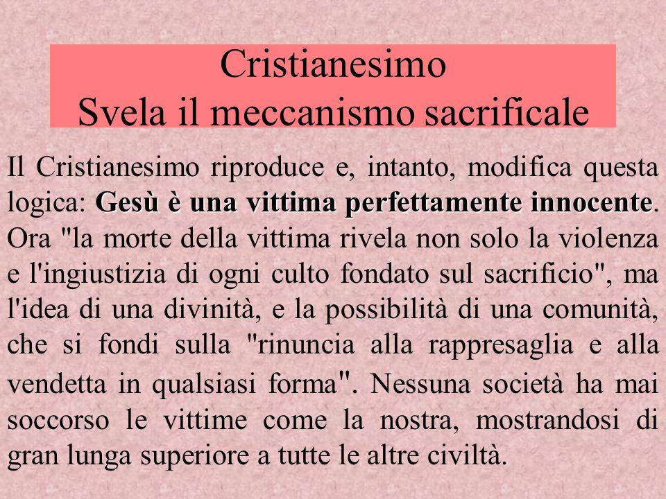 Cristianesimo Svela il meccanismo sacrificale