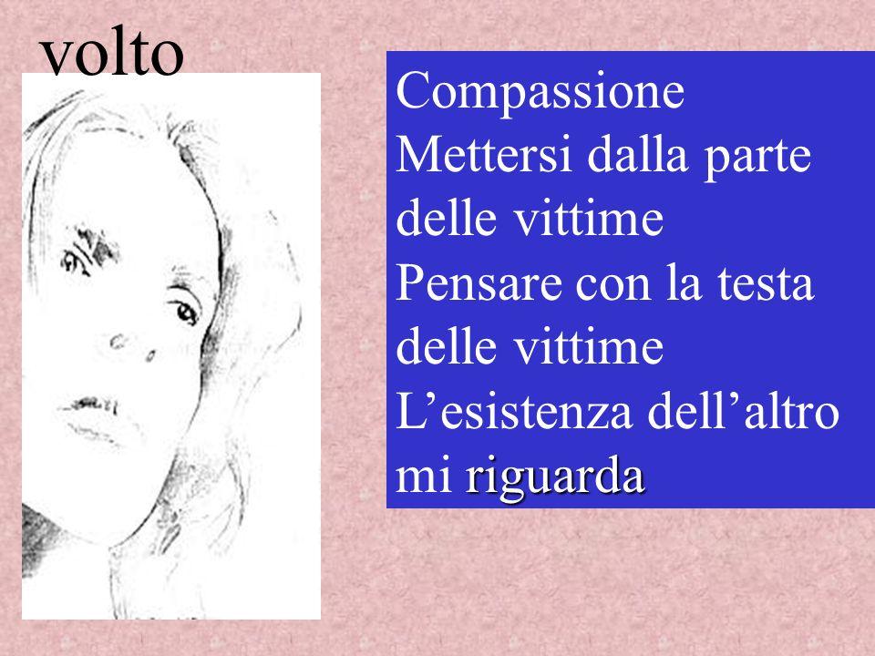 volto Compassione Mettersi dalla parte delle vittime