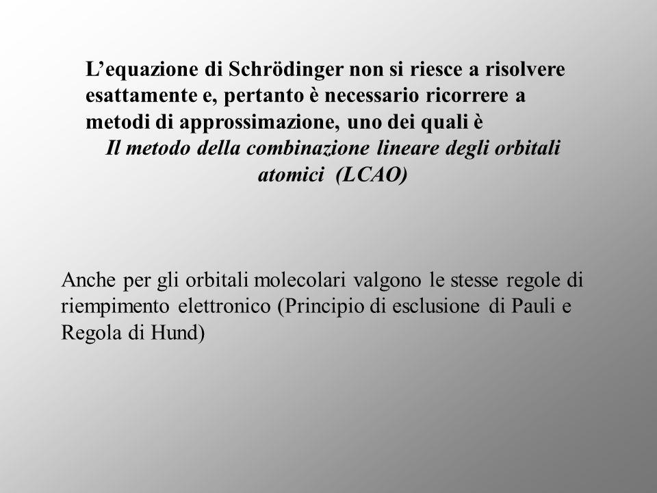 Il metodo della combinazione lineare degli orbitali atomici (LCAO)