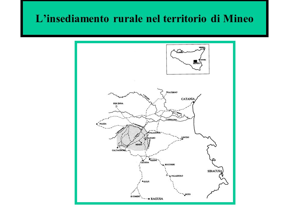 L'insediamento rurale nel territorio di Mineo