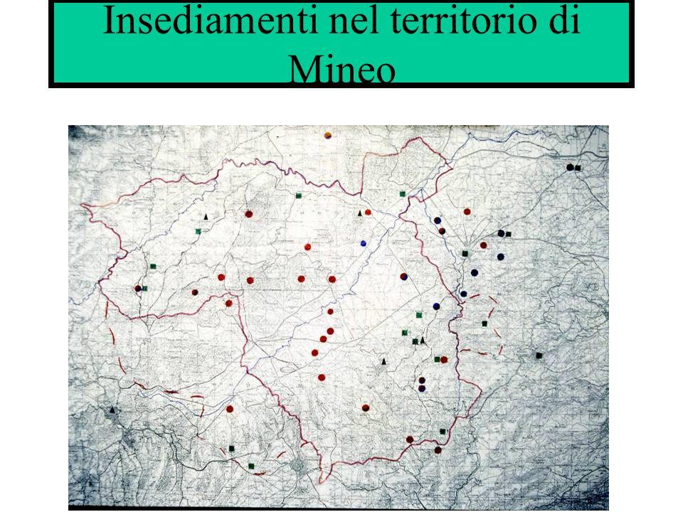 Insediamenti nel territorio di Mineo