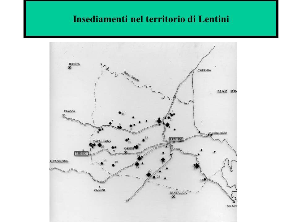 Insediamenti nel territorio di Lentini