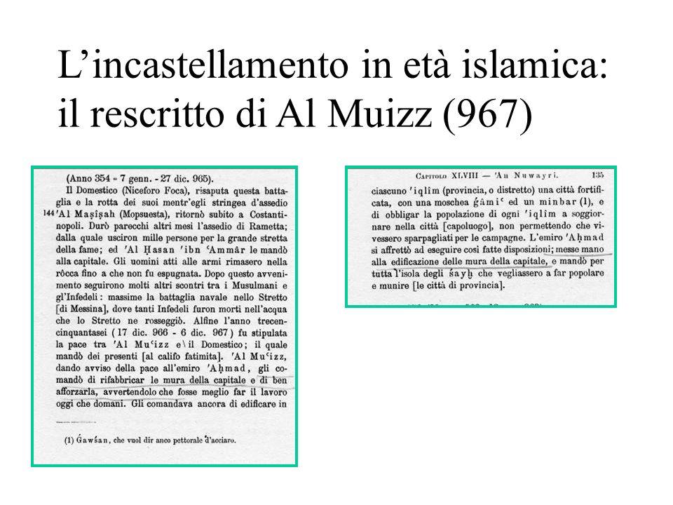 L'incastellamento in età islamica: il rescritto di Al Muizz (967)