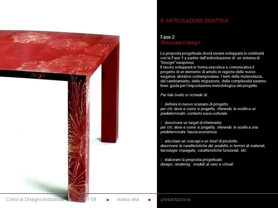 10. B. ARTICOLAZIONE DIDATTICA Fase 2 Rinnovare il design