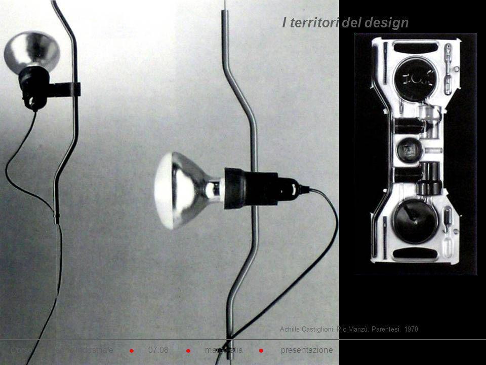 I territori del design Achille Castiglioni, Pio Manzù. Parentesi. 1970.