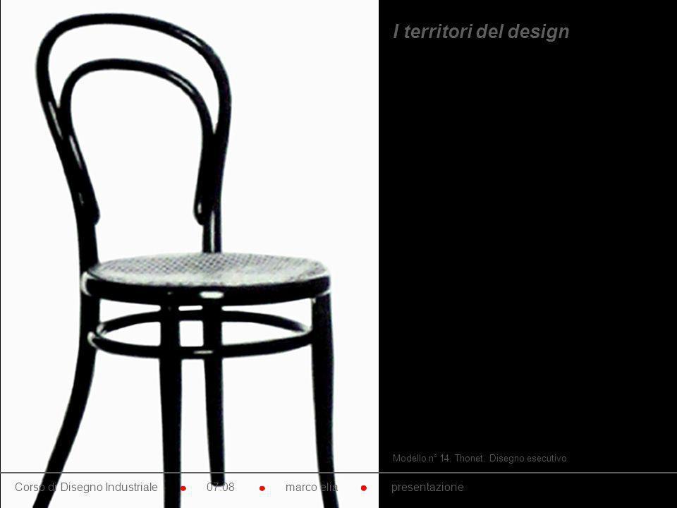 I territori del design Modello n° 14. Thonet. Disegno esecutivo.