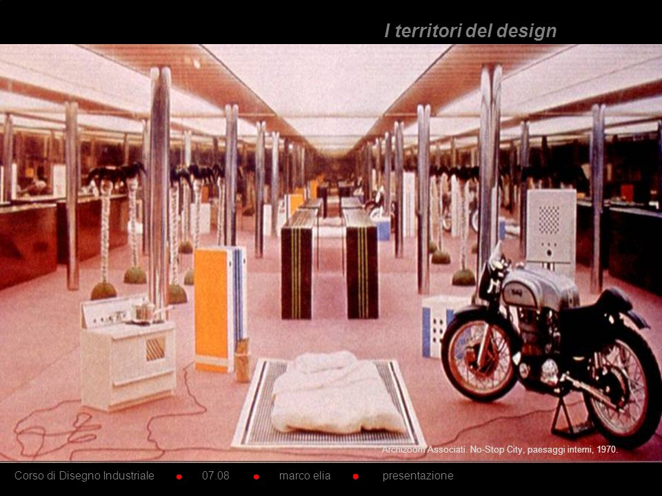 I territori del design Archizoom Associati. No-Stop City, paesaggi interni, 1970.