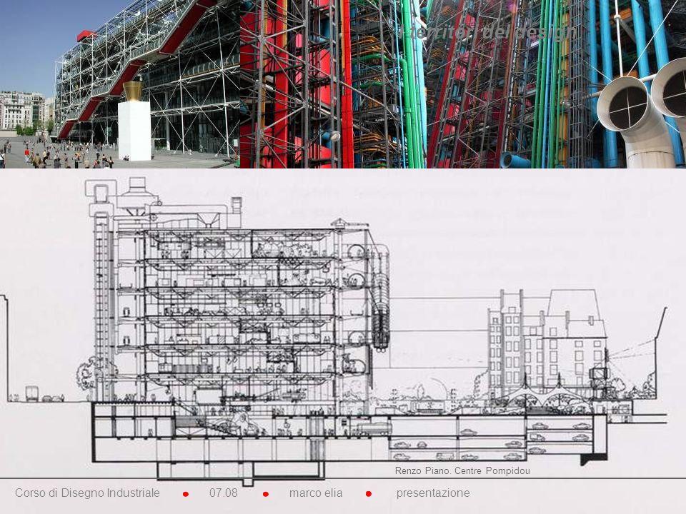 I territori del design Renzo Piano. Centre Pompidou.