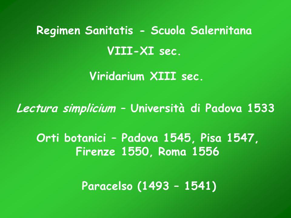 Regimen Sanitatis - Scuola Salernitana VIII-XI sec.