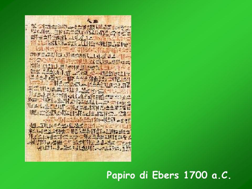 Papiro di Ebers 1700 a.C.