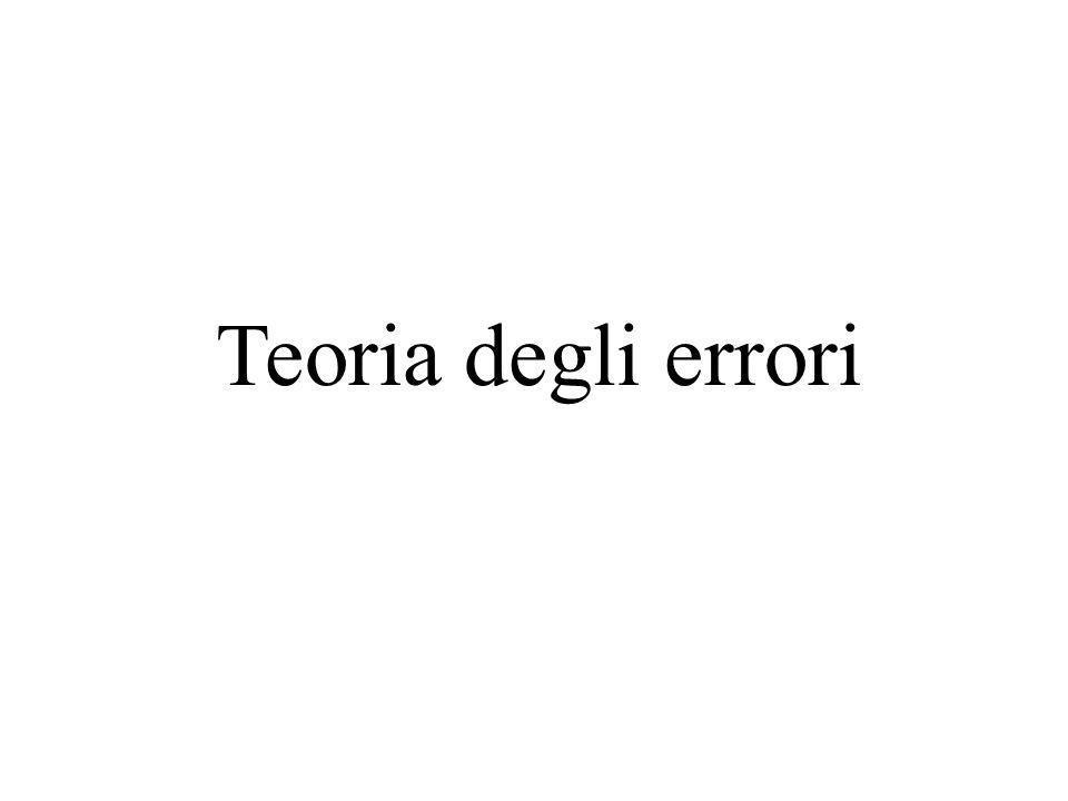 Teoria degli errori