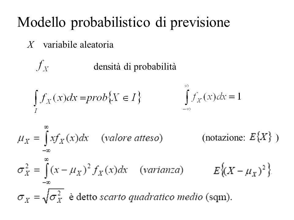 Modello probabilistico di previsione