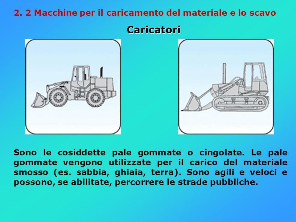 2. 2 Macchine per il caricamento del materiale e lo scavo