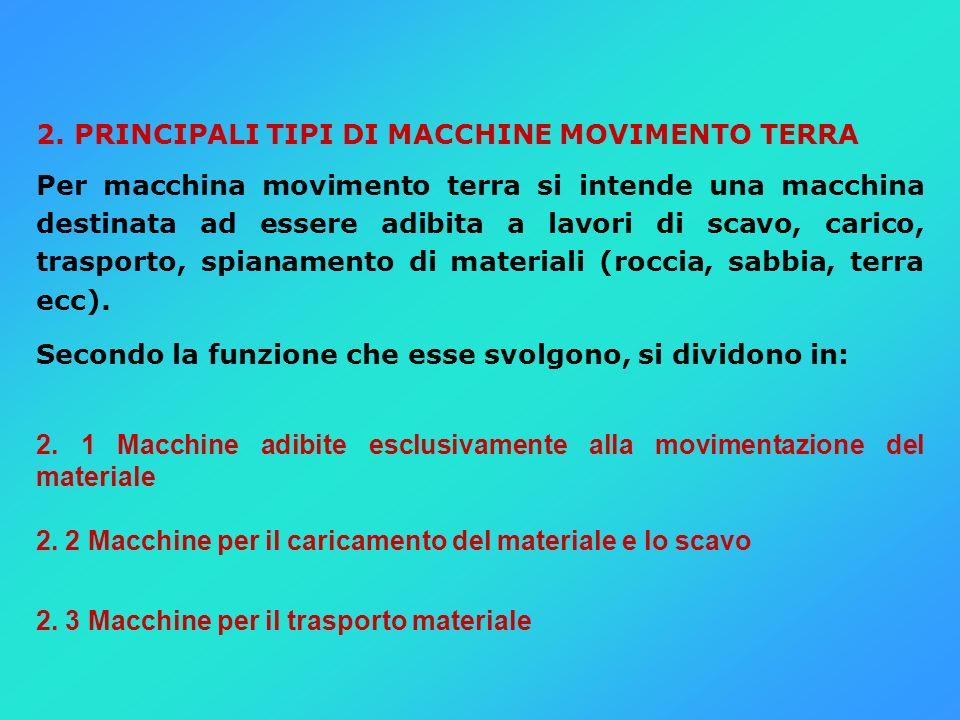 2. PRINCIPALI TIPI DI MACCHINE MOVIMENTO TERRA