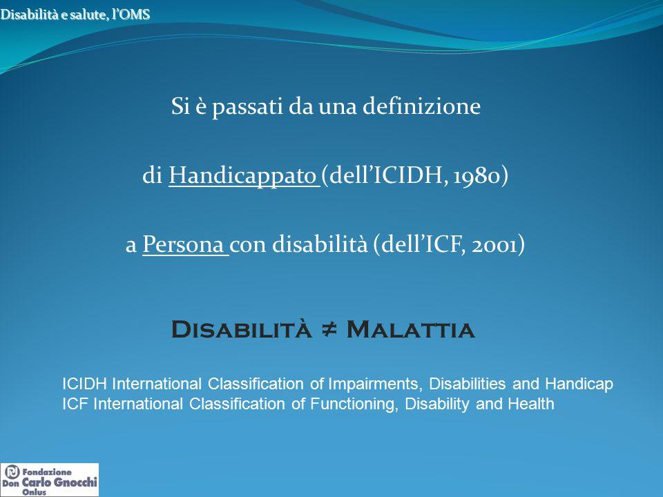 Disabilità e salute, l'OMS