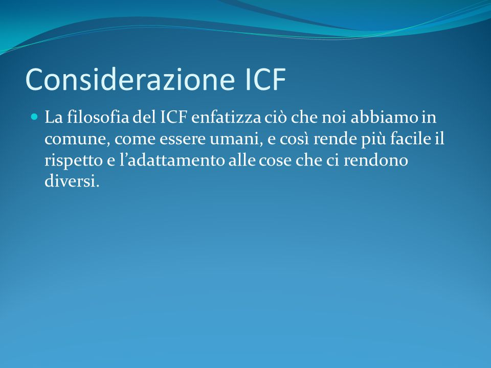 Considerazione ICF