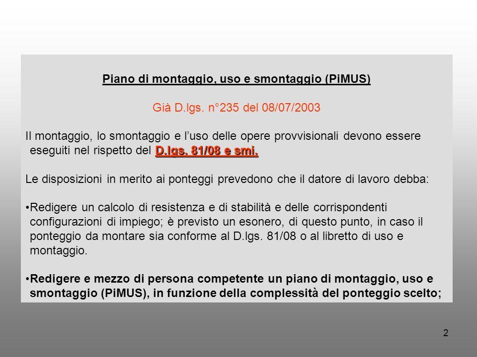 Piano di montaggio, uso e smontaggio (PiMUS)