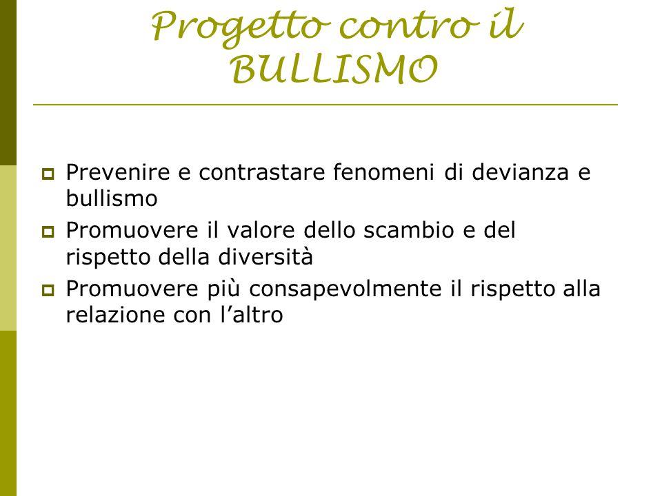 Progetto contro il BULLISMO