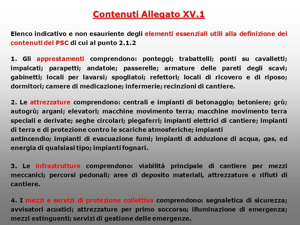 Contenuti Allegato XV.1