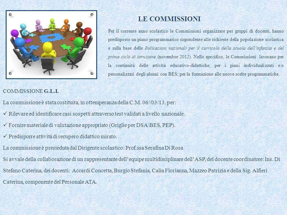 LE COMMISSIONI COMMISSIONE G.L.I.