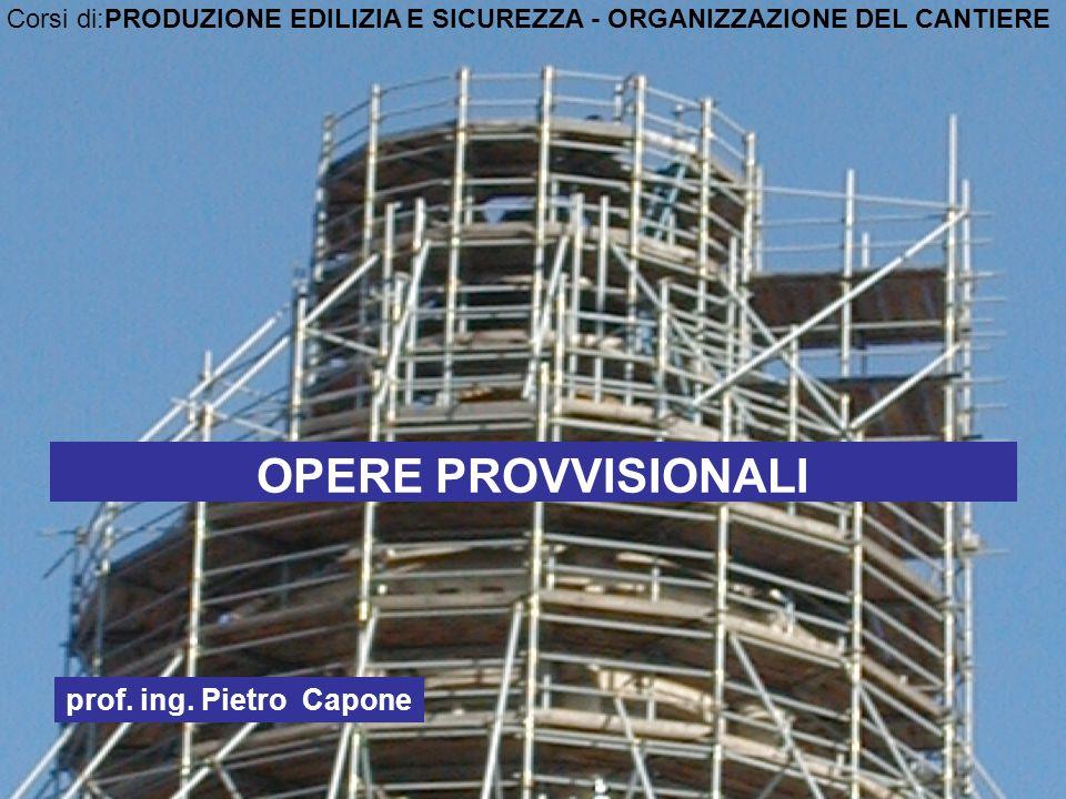 OPERE PROVVISIONALI prof. ing. Pietro Capone
