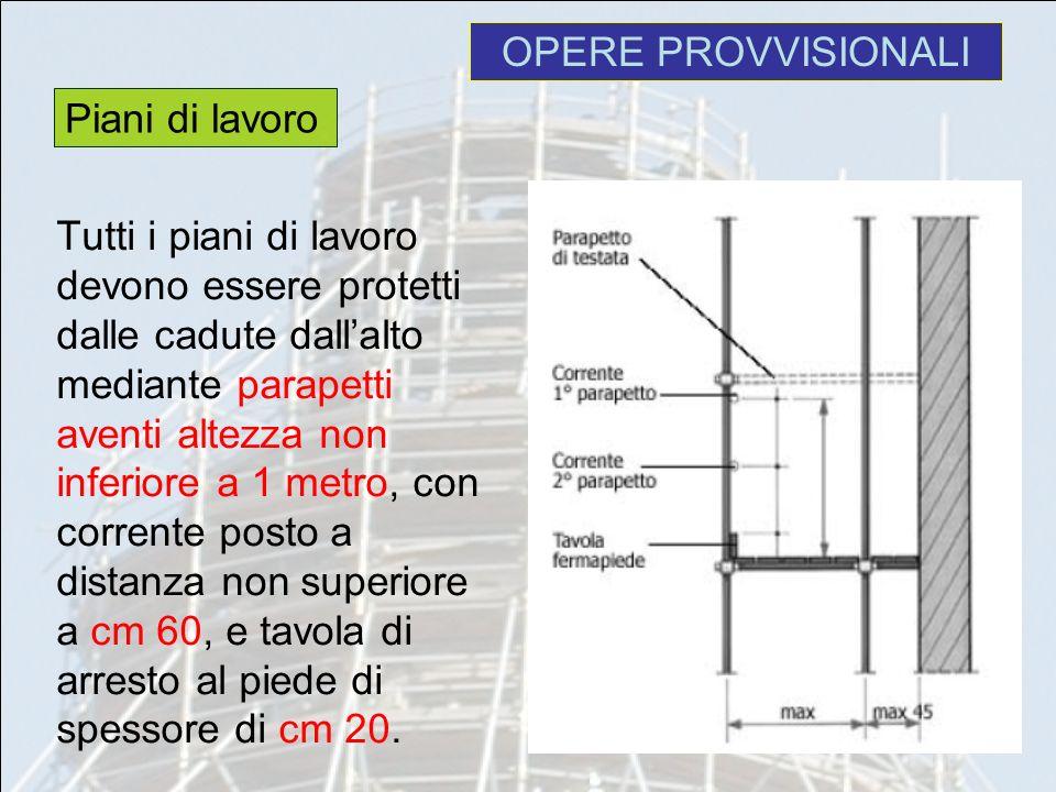 Opere provvisionali prof ing pietro capone ppt video for Piani di coperta online