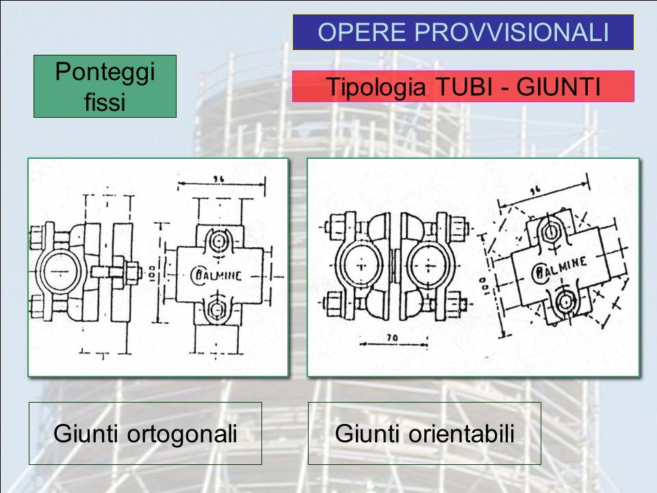 Tipologia TUBI - GIUNTI