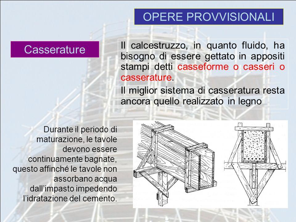 OPERE PROVVISIONALI Casserature