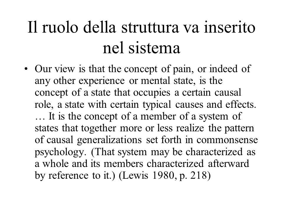 Il ruolo della struttura va inserito nel sistema