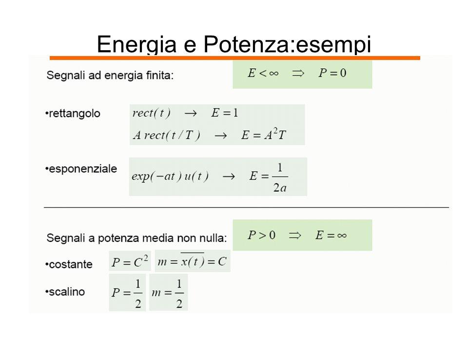 Energia e Potenza:esempi