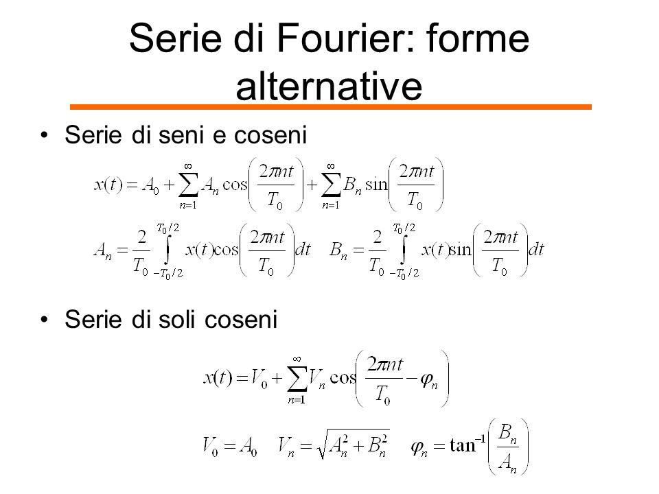 Serie di Fourier: forme alternative