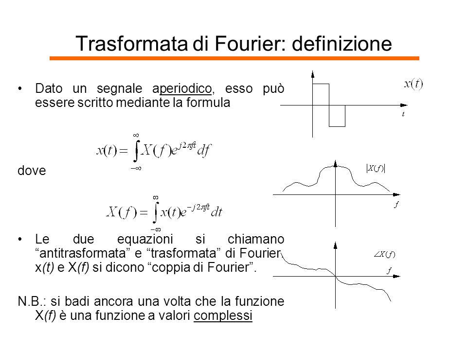 Trasformata di Fourier: definizione