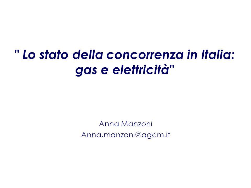 Lo stato della concorrenza in Italia: gas e elettricità