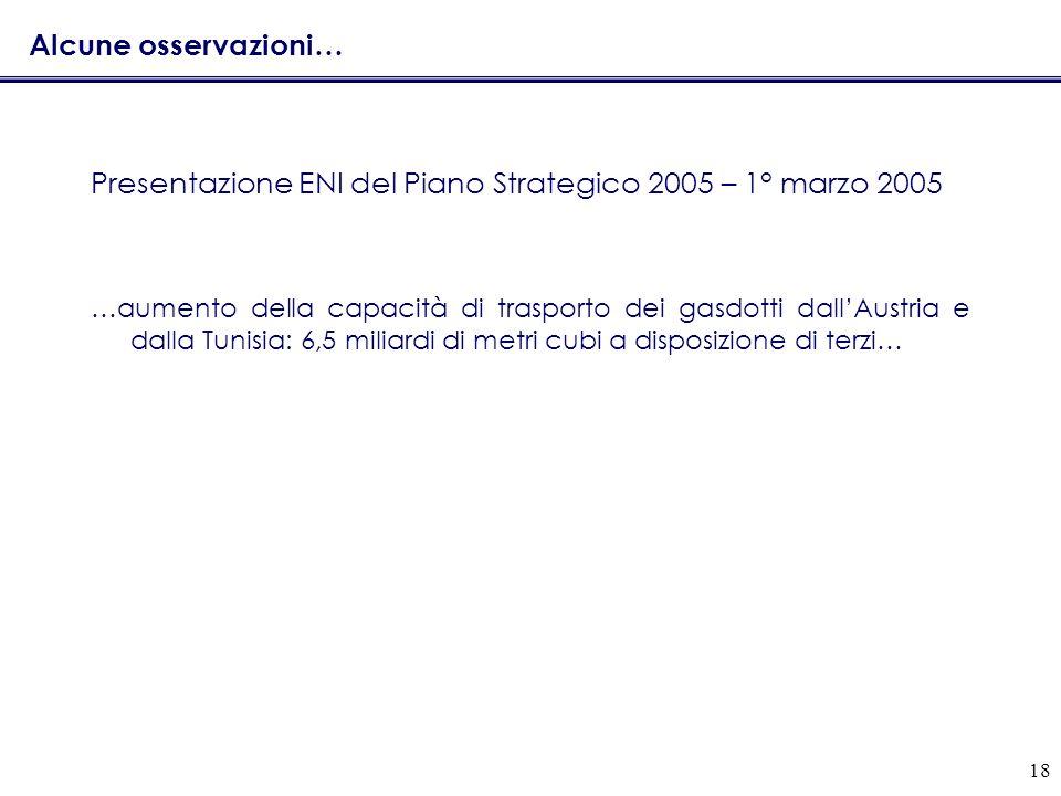 Presentazione ENI del Piano Strategico 2005 – 1° marzo 2005