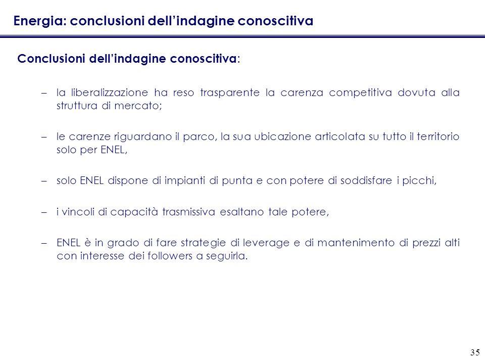 Energia: conclusioni dell'indagine conoscitiva