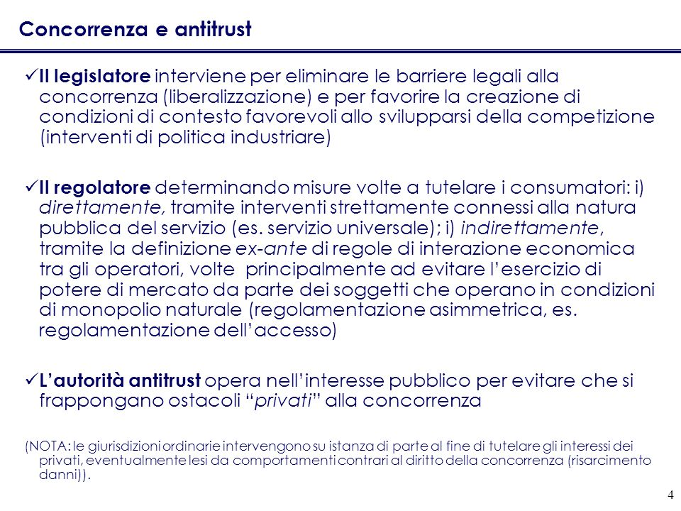 Concorrenza e antitrust