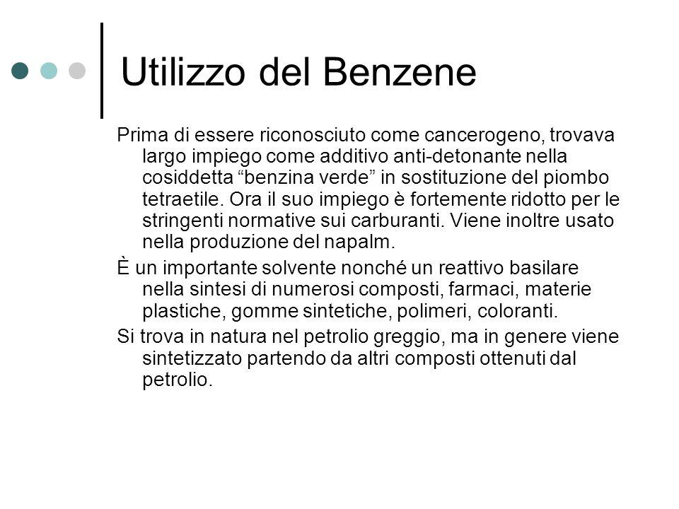 Utilizzo del Benzene