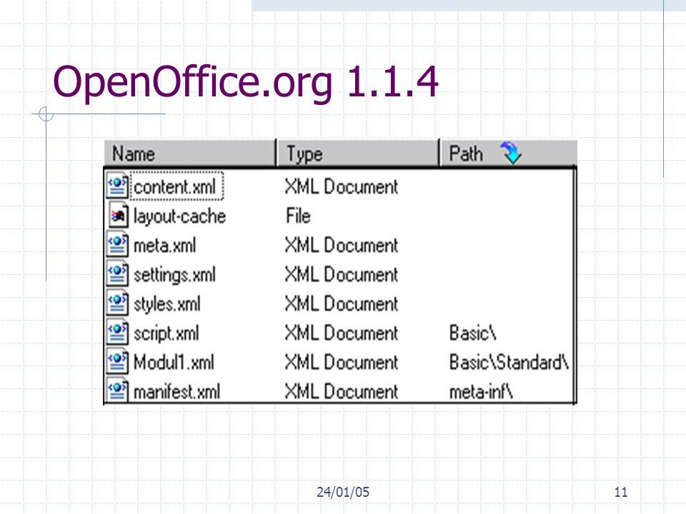 OpenOffice.org 1.1.4 24/01/05