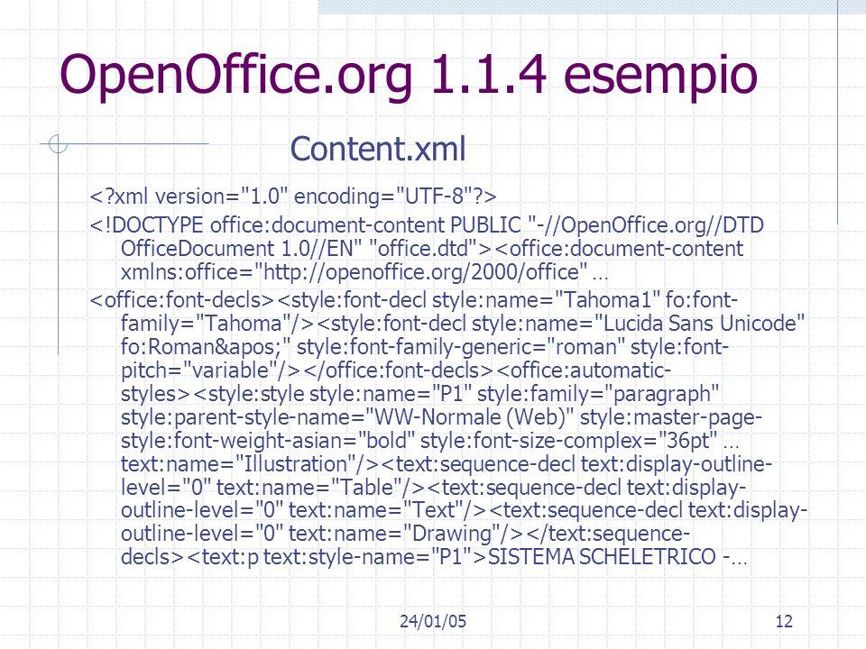 OpenOffice.org 1.1.4 esempio