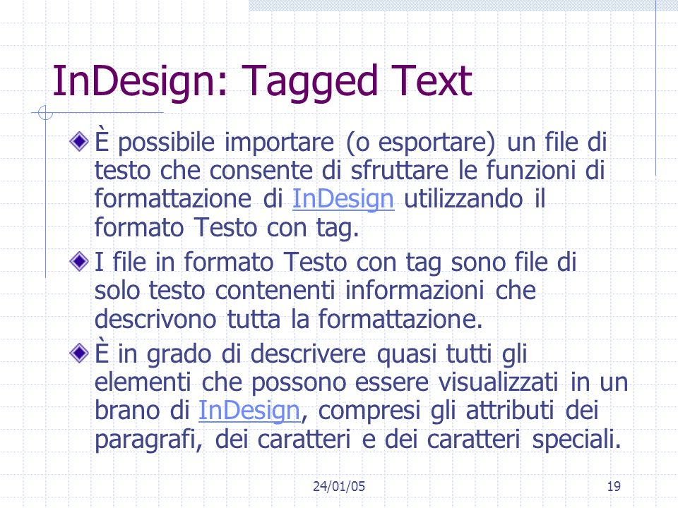 InDesign: Tagged Text