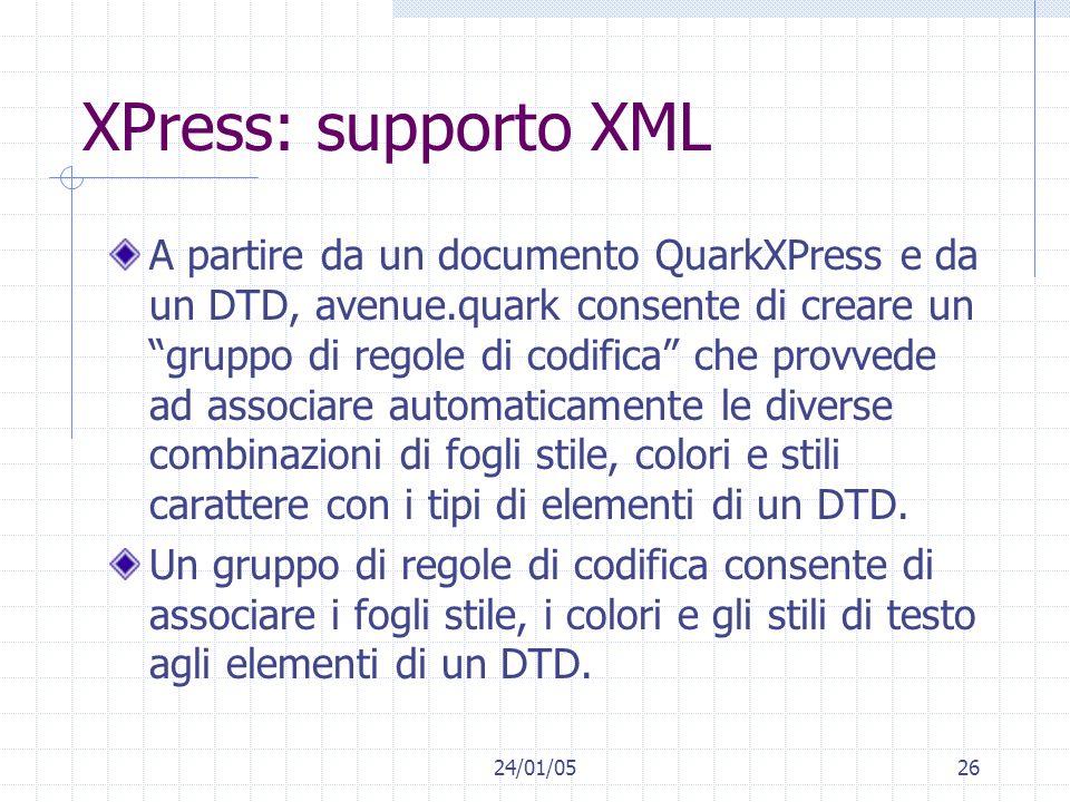 XPress: supporto XML