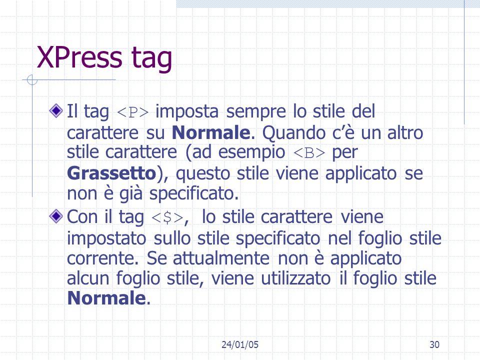 XPress tag