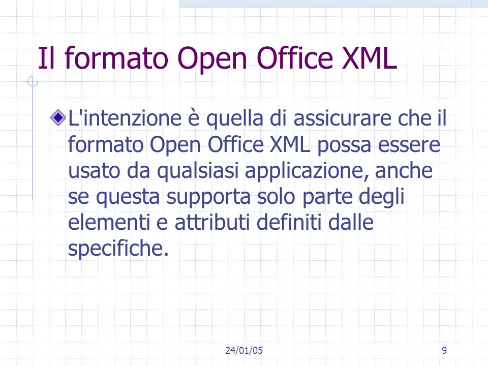 Il formato Open Office XML