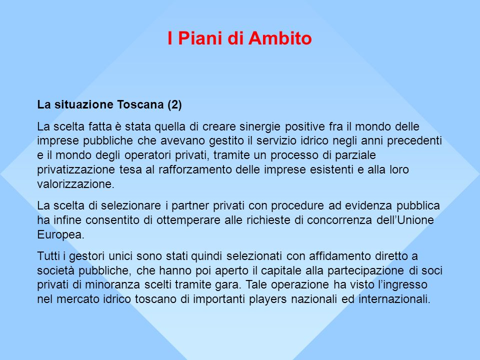 I Piani di Ambito La situazione Toscana (2)