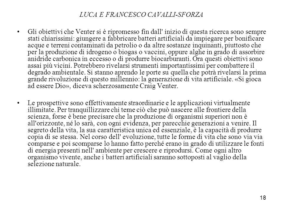 LUCA E FRANCESCO CAVALLI-SFORZA